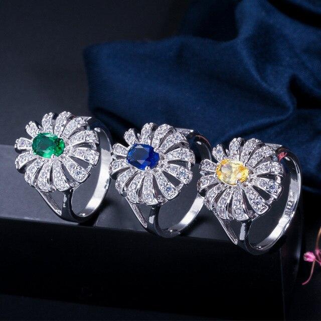 Femmes Simple 925 en argent Sterling AAA Zircon bague de fiançailles cadeau de mariage bijoux bague en gros diamant anneaux pour les femmes