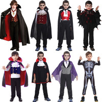 Carnival Party Halloween Kids Children Count Dracula Gothic Vampire Costume Fantasia Prince Vampire Cosplay for Boy Boys