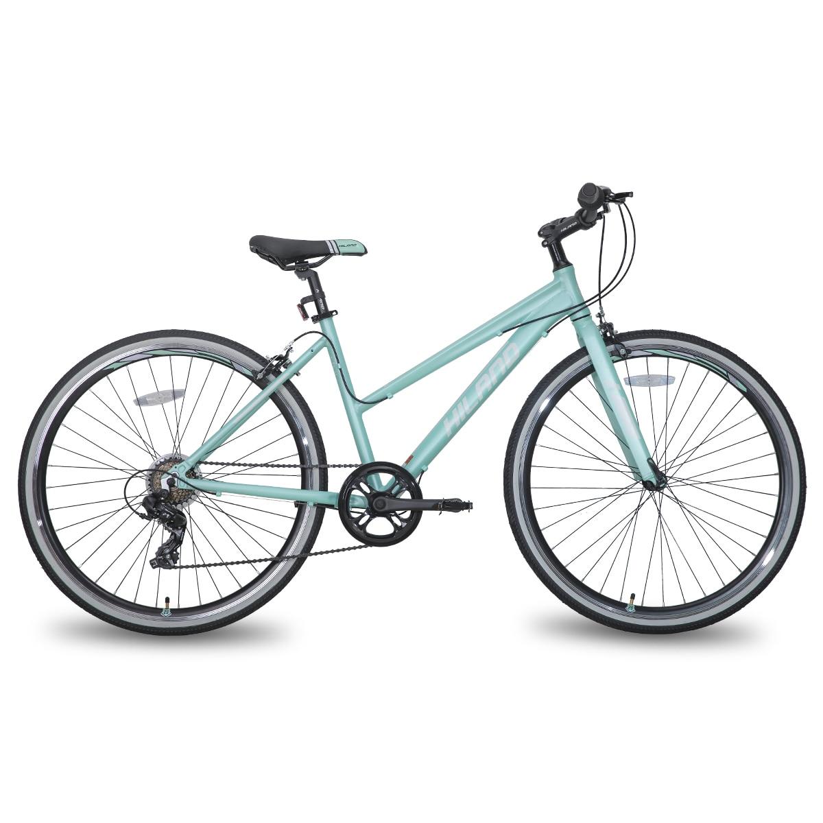 Нидерланды склада ЕС Бесплатная доставка HILAND 700C Алюминий рама городского велосипеда Cruiser гибридный велосипед двойной дисковый тормоз Запч...