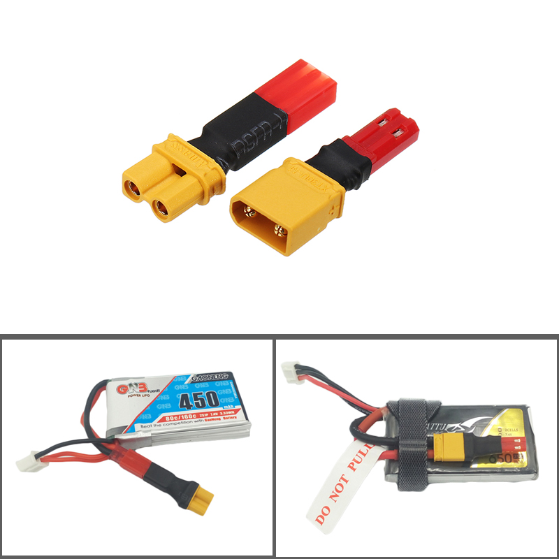 2S 7.4V Lipo Battery Adapter Connector XT30 To JST Male Female Plug For RC FPV Racing Drone