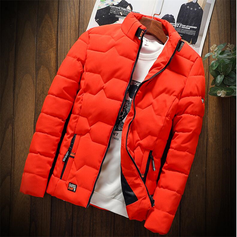 autumn winter New Jacket fashion trend Casual thickened warm cotton padded clothes Slim baseball coats size Down Warm Jacket