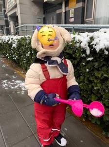 Image 2 - 어린이 방수 비 바지 새로운 2018 브랜드 방수 바지 1 7Yrs 아기 소년 소녀 Overalls 패션 키즈 오버올