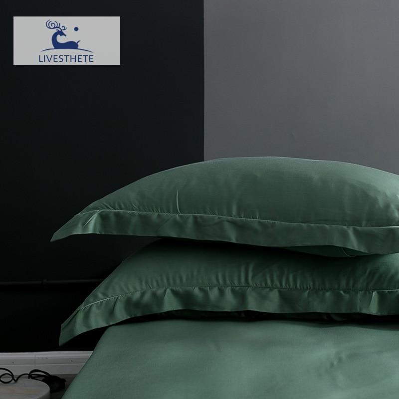 Liv-Esthete 25 Momme 100% Silk Pillowcase Healthy For Skin Silky Pillow Case For Women Men Sleeping Pillow Cover Home Textiles