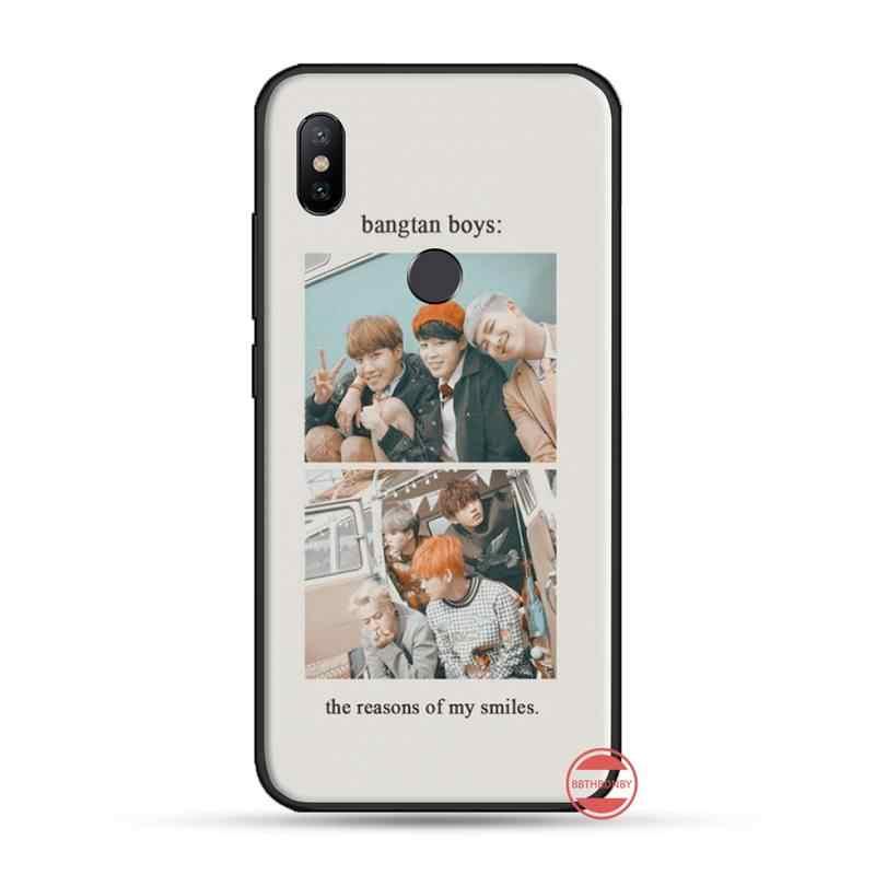 Kpop boy الكورية المجموعة الكورية البوب الموسيقى حافظة هاتف محمول من البولي يوريثان ل شاومي Redmi 4x5 زائد 6A 7 7A 8 mi8 8 لايت 9 نوت 4 5 7 8 برو
