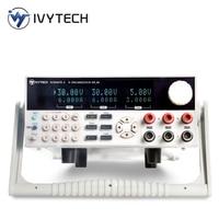 IVYTECH Programmable Tri channel DC Power Supply10mV/1mA 30V/3A 30V/6A 60V/3A OVP OTP Laboratory Bench Power Source