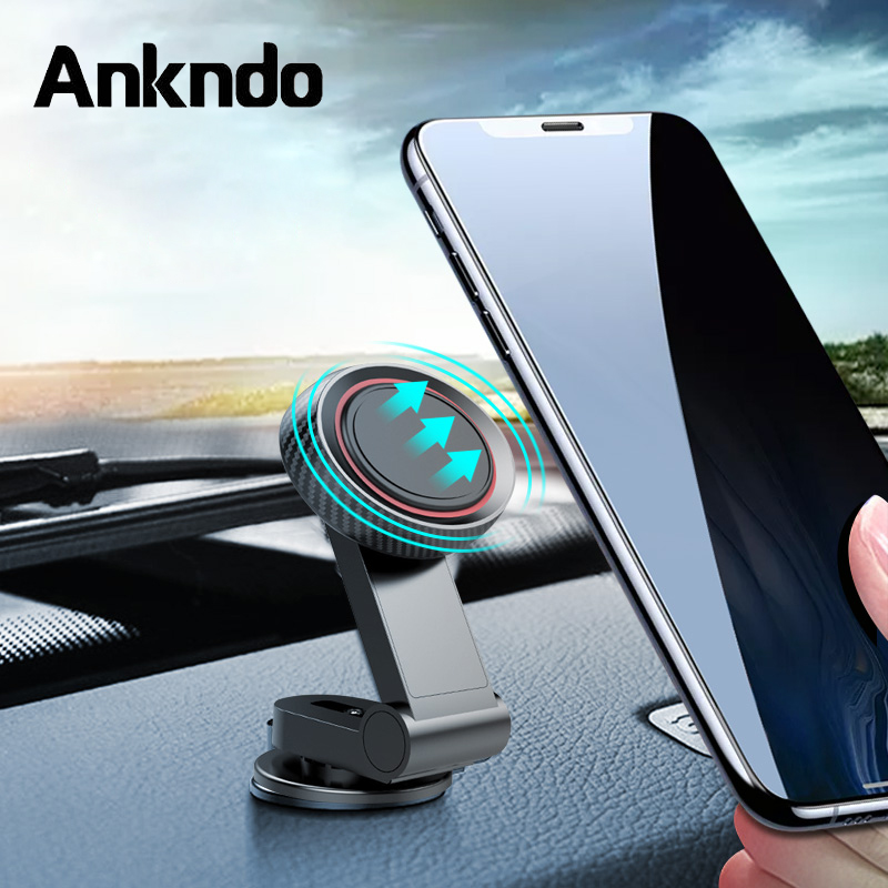 Rotate Phone Holder In Car Magnetic Holder Universal Mobile Phone Bracelet Foldable Cellphone Charging Stand For XIaomi Samsung