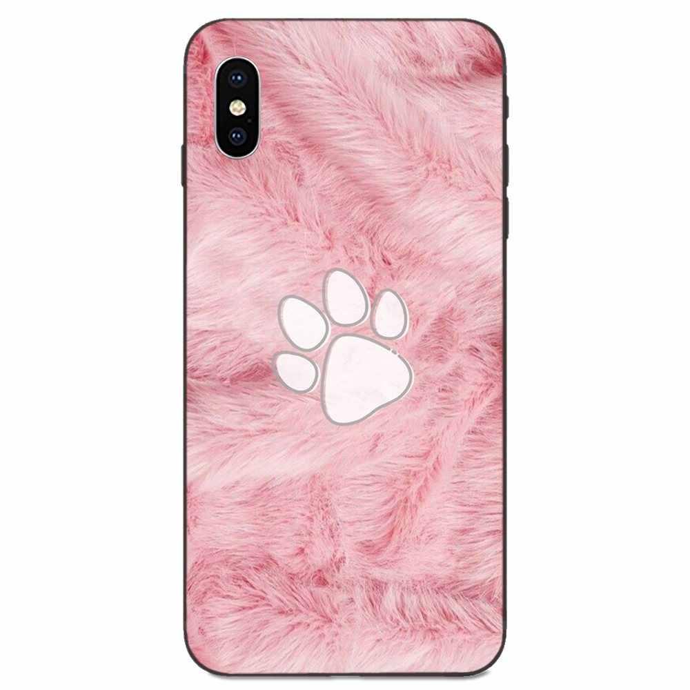 Apple の Iphone 4 4S 5 5S 、 SE 6 6S 7 8 11 プラス X XS 最大 XR プロマックス Tpu 電話ケーススキンカバー紫、ピンク、青ファーの質感パイント