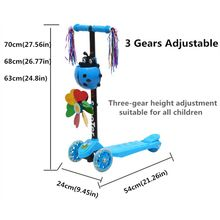 Windmill Ladybug Scooter Foldable and Adjustable Height Lean to Steer 3 Wheel Scooters for Toddler Kids Boys Girls Age 3-8 E65D