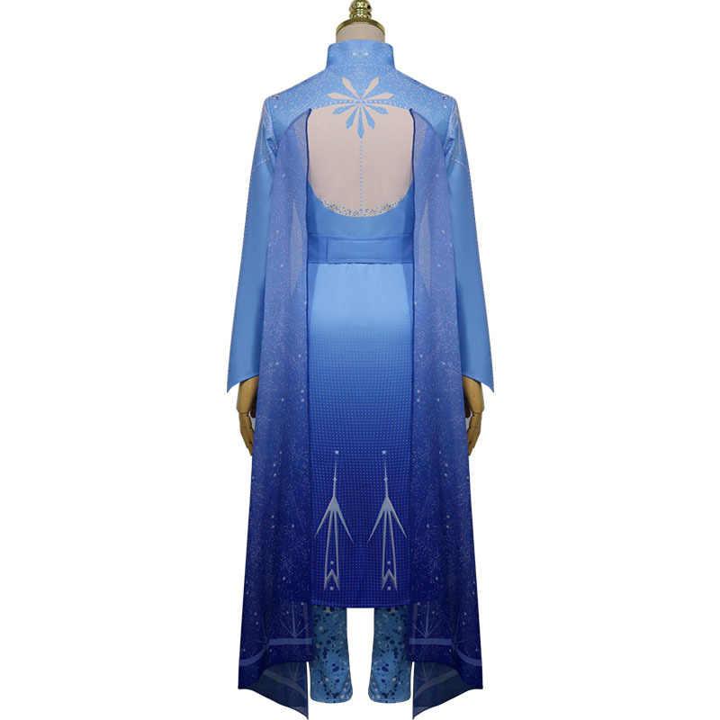 大人女性雪の女王 2 アイシャプリンセスドレスコスプレ衣装ハロウィンクリスマス誕生日パーティードレス + パンツ + ベルトスーツ c180K20