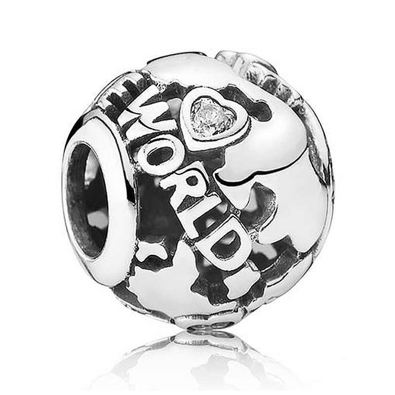 โลโก้ตลอดกาลทั่วโลก Happy วันเกิดเค้ก Tumbling Hearts สร้อยข้อมือ PANDORA 925 Sterling Silver Charm