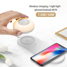 LED Night Light With Wireless Charger Magnetic Attraction Fast Charging For iPhones Samsung Huawei Xiaomi phones
