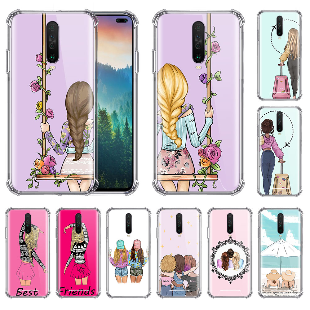 Sisters And Best Friend Case For Xiaomi Redmi Note 8T 9 8 7 K20 Pro K30 7A 6 Airbag Anti Fall Phone Coque Soft Covers
