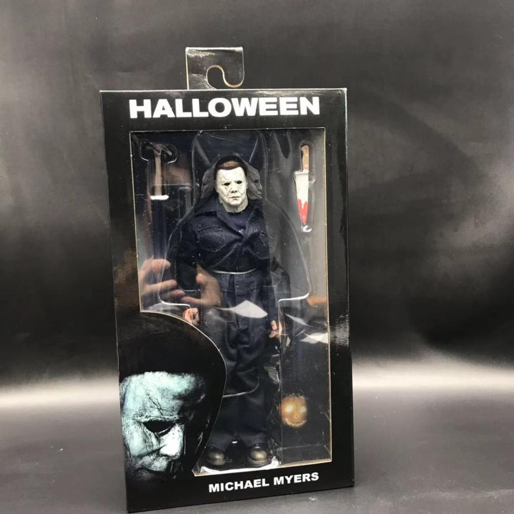 Image 4 - 18CM Original NECA New Halloween Ultimate Real clothes Michael Myers Action Figure PVC Joint movable collection toy giftAction & Toy Figures   -