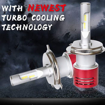 Car Led Headlight Bulb Turbine Cooling H7 LED H4 H1 H3 H11 H8 D2S D1S 9005 HB3 9006 HB4 9012 CSP chips 60W Auto Car Lights lamp