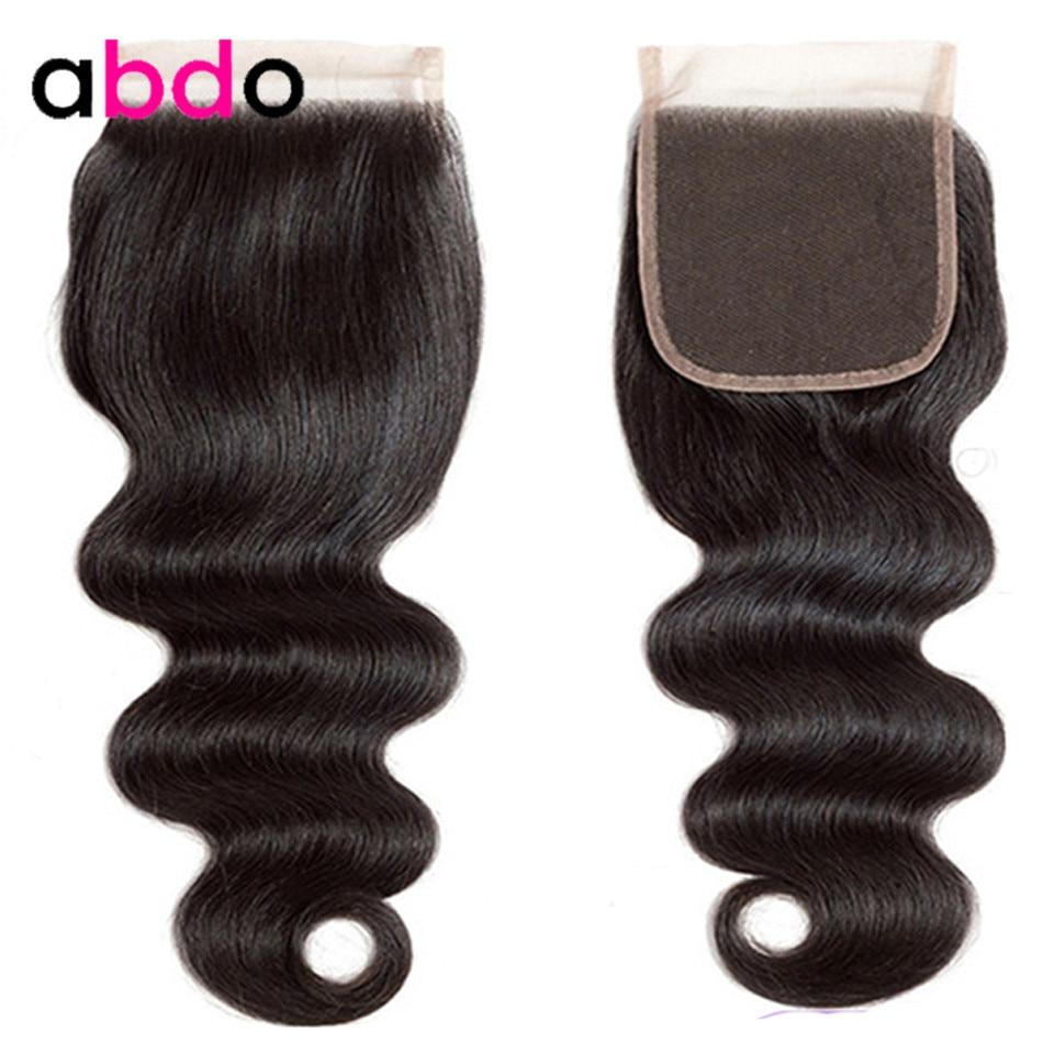 Body Wave Closure 4×4 Lace Closure 22 Inch Closures Natural Color Non-Remy 100% Human Hair Closure Peruvian Frontal Closure Abdo