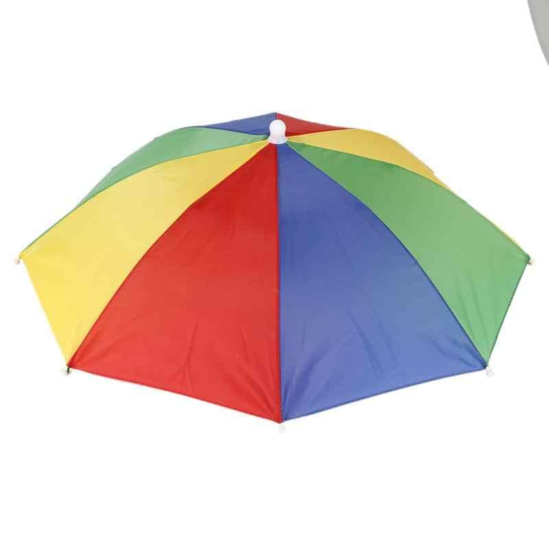 Protezione di Sport Del Berretto di pesca Cappello Ombrello Da Trekking Campeggio Spiaggia Copricapi Cap Testa Cappelli Camouflage Pieghevole Protezione Solare Ombra Ombrello # ND