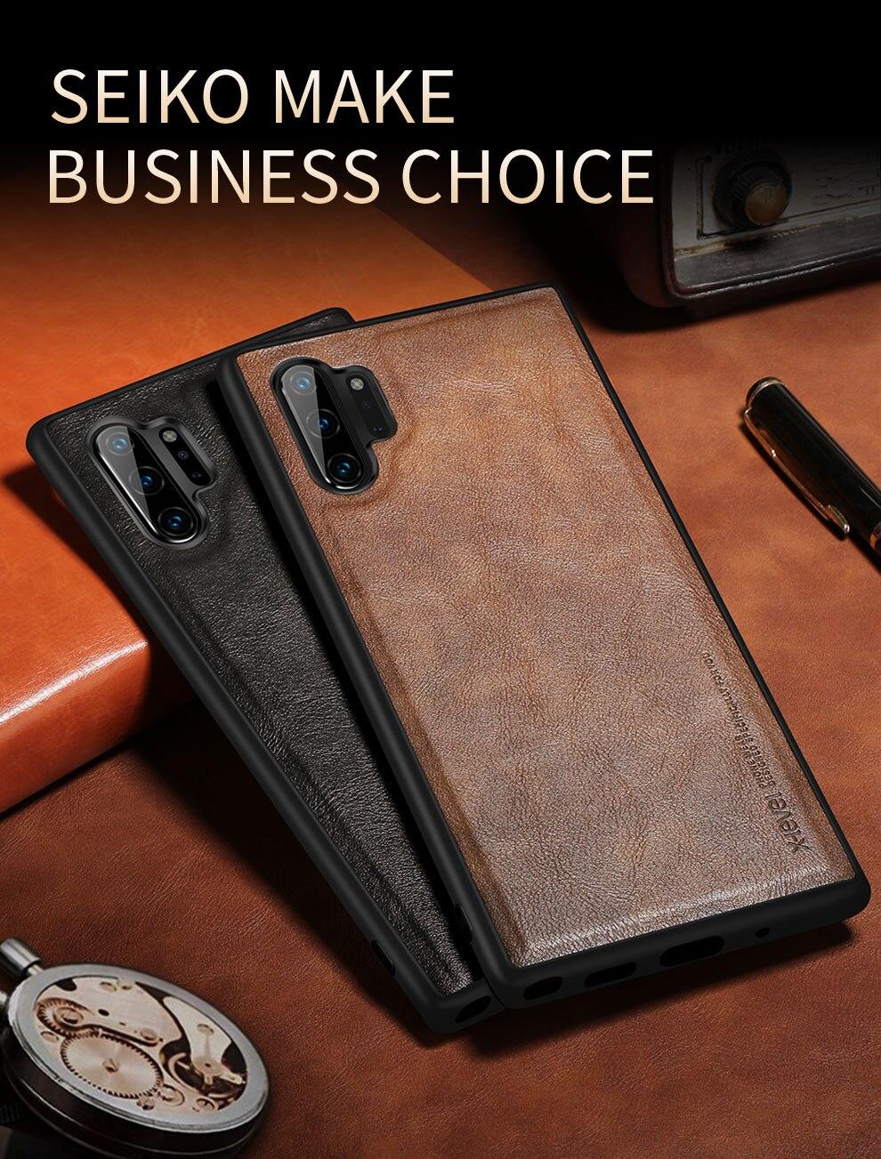 Heb3e18d17cbc4cde9ecf8e46ba767df8F X-Level Leather Case For Samsung Note 10 Plus Soft Silicone Edge Back Phone Cover For Samsung Galaxy Note 10 Case Note10 Plus