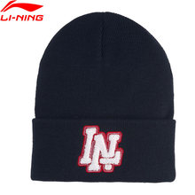 Li-Ning Unisex The Trend Knitted Hat Anti-static Warm Acrylic 21CM LiNing li ning Sports Hats Caps AMZP022 PMM326(China)