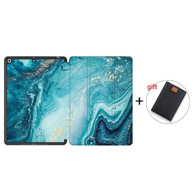 IPTPU01 Red MTT Soft TPU Back Case For iPad 10 2 inch 7th 8th Gen Marble PU Leather