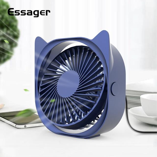 Essager Mini USB Fan Desktop Desk Small Fan For Office Electronic Summer Gadgets Portable USB Cooler Cooling Fan Mini-fan