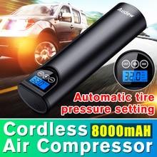 Audew コードレスハンドヘルドインフレータブル空気ポンプ車のタイヤインフレータ液晶デジタル充電式自動緊急オートバイ 150PSI 12V