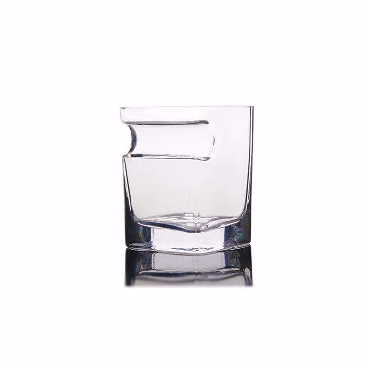 1 шт. с пазами для сигарет чашки для сигар бессвинцовый прозрачный стакан для пива домашнее Вино тумблер для виски утолщенное стекло круглая кружка для напитков - Цвет: Clear