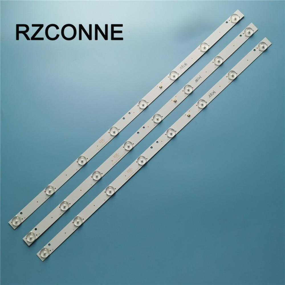 3pcs 565mm*17mm 8leds LED Backlight Lamps Strips W/ Optical Lens Fliter For CRH-K323535T020859B-Rev1.3G S D5