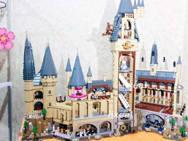 Bangunan Batu Bata Blok Kompatibel Legoed Harry P Kastil Hogwarts 71043 Sekolah Sihir 6742 Pcs Creator Mainan Hadiah Anak TECHNIC