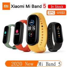 2020 ใหม่ล่าสุดXiaomi Mi 5 สมาร์ทนาฬิกาHeart Rate Sleep Monitorโยคะกีฬาฟิตเนสสร้อยข้อมือMi Band 5 สมาร์ทนาฬิกาสแตนด์บายยาว
