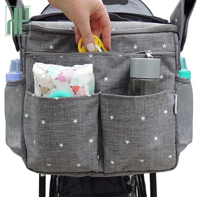 USB Charging Baby Diaper Bags For Mom Backpack Fashion Star Maternity Bag Stroller Bag Multifunctional Nappy Bag For Mummy