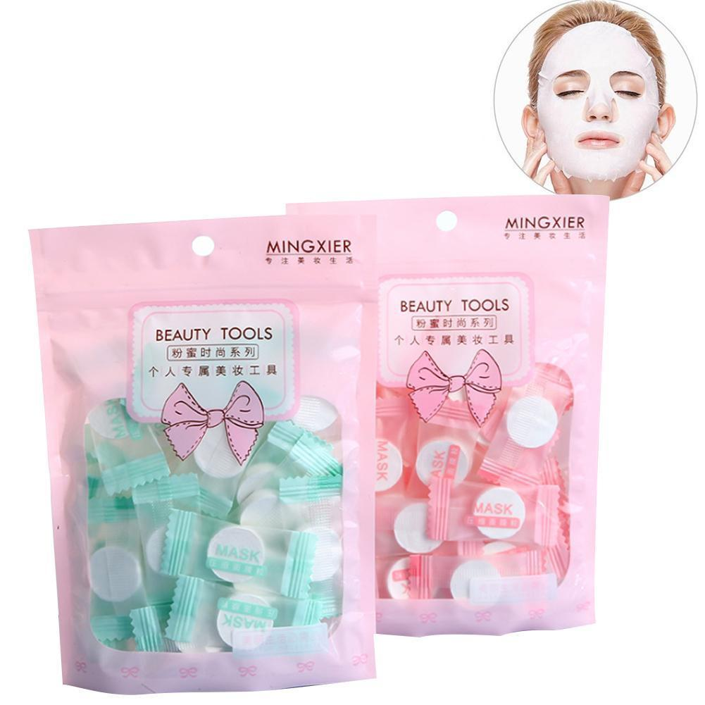 Disposable Wrapped Masks Women Girls Cotton Face Sheets Tablets For Diy Compressed Mask Mask Skin Care
