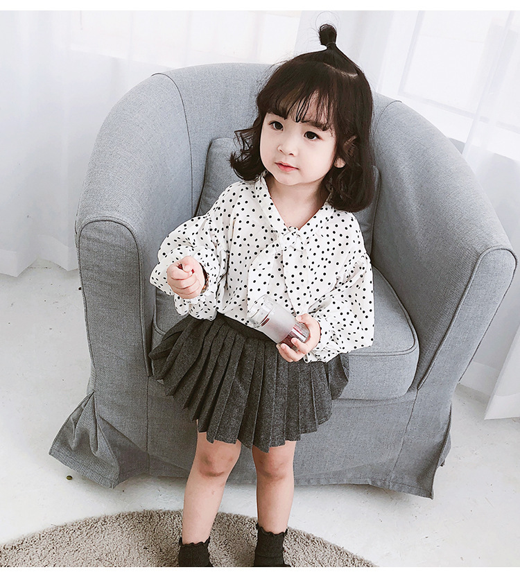 Proud Bay Girls Spring Clothing Lantern Sleeve Korean-style Princess Long Sleeve Western Style CHILDREN'S Shirt Women's Spring S