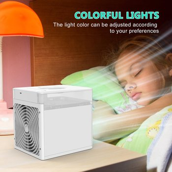 цена на Mini Multifunctional Air Cooler Household Portable Office Water Cooling Fan Portable Mini Multi-Function Cooler