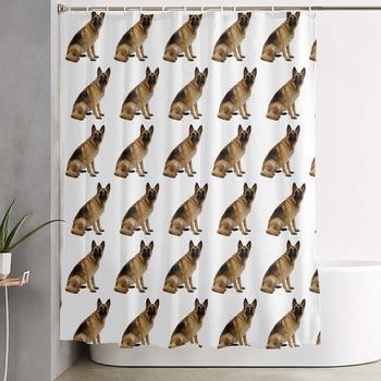 Eco-Friendly 100% Polyester Fiber Bathroom Bathtub Shower Curtain with Hooks for Master Bathroom Kid's Bathroom Guest