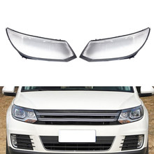 Car Front Headlight Head Light Lamp Cover Head Light Lamp Clear Lens Shell Cover Replacement for V-W Tiguan 2013 2014 2015 2016(China)