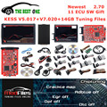 Онлайн Kess V5.017 OBD2 менеджер Тюнинг Комплект KESS 2,70 KTAG V7.020 4 светодиода 2,25 BDM Рамка 14G тюнинг ремап-файл K-TAG ECU Программатор