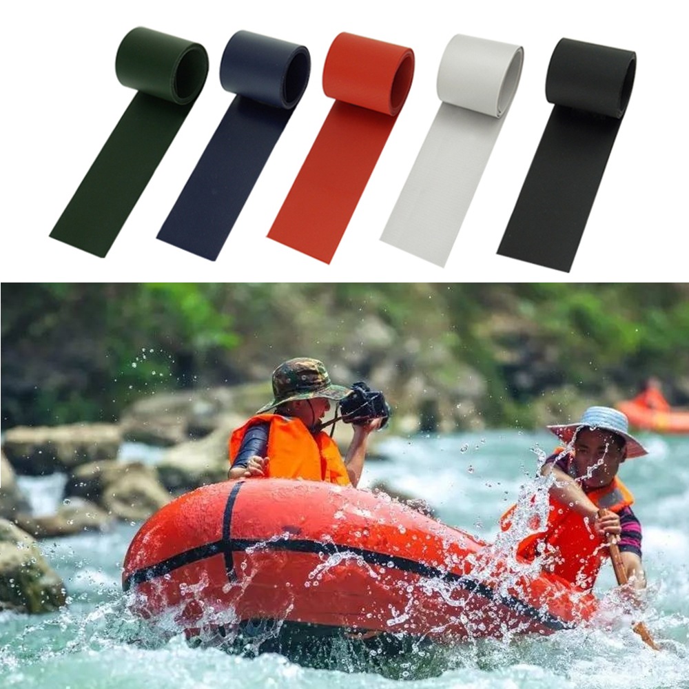 1 Roll 50*1000mm Inflatable Boats Kayak Special Damaged Leaking Hole PVC Repair Patch Kit Glued Waterproof Patch Tool Boat