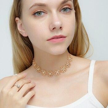 Minghuang nowe akcesoria moda europejska i amerykańska czeski naszyjnik krótki łańcuszek na obojczyk krótki naszyjnik biżuteria
