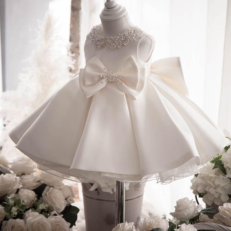 branco tutu vestido de aniversario vestido 02