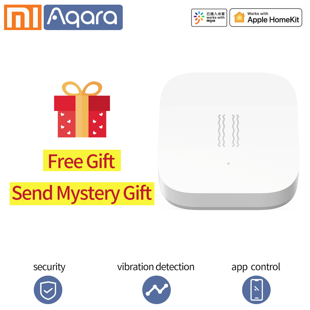 Aqara Shock Sensor Smart Motion Sensor Vibration Detection Alarm Monitor Xiaomi Smart Homekits Zigbee Sensor