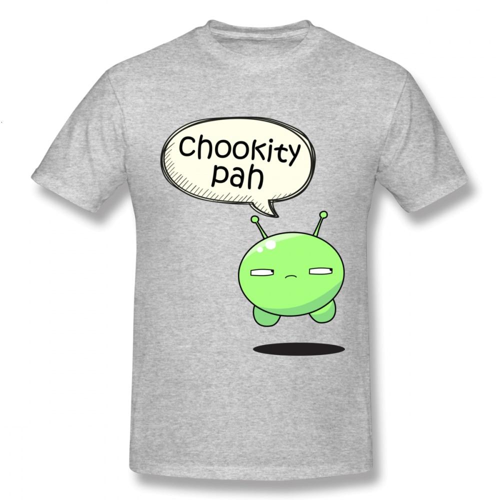 One Yona Final Space Cartoon Tees Man Chookity Pah T Shirt Plus Size Camiseta Casual 100% Cotton Plus Szie Fashion New Arrival