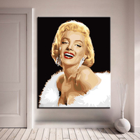 Sexy Monroe DIY Painting By Numbers Kits Calligraphy Painting Acrylic Paint By Number For Home Decoration A work of art