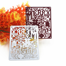 Merry Christmas Frame Metal Cutting Dies for Scrapbooking 2019 Craft DIY Album Embossing Folder Stencils Maker Photo Template