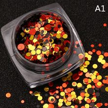 Nail Art Supplies For Professionals Nail Decoration Metallic Mixed Colorful Round Sequins Nail Glitter Spot Rhinestones