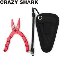 CrazyShark Mini Fishing Pliers  Aluminium Alloy Hook Remover Braid Line Cutting Tools Carp Scissors 115mm