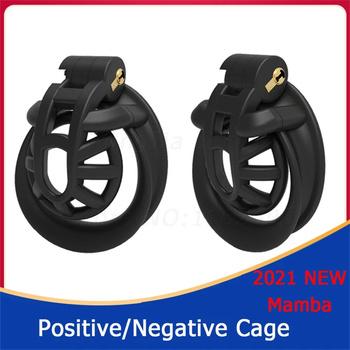 Nowy projekt pozytywny negatywny mężczyzna urządzenie Chastity Chastity Cage Cobra Chastity Double-Arc mankiet zabawki erotyczne dla mężczyzn tanie i dobre opinie manyjoy CN (pochodzenie) Pompy i powiększalniki