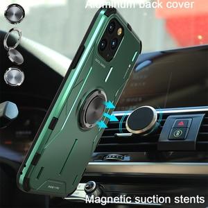 Image 2 - Metal alüminyum zırh iPhone için kılıf 11 kılıf funda coque iPhone xs için xr 11 Pro Max telefon kılıfı kapak darbeye dayanıklı Fundas tutucu