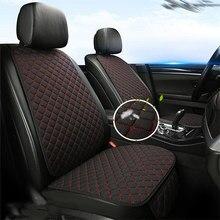 Capa de assento de carro protetor de linho dianteiro ou traseiro protetor de assento traseiro a maioria dos carros cobre almofada acessórios do carro anti-deslizamento