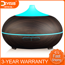 DEVISIB 300ml Essential Oil Diffuser Aroma Cool Mist Humidifier with Waterless Auto Shut off and 7 Color LED Light and BPA Free