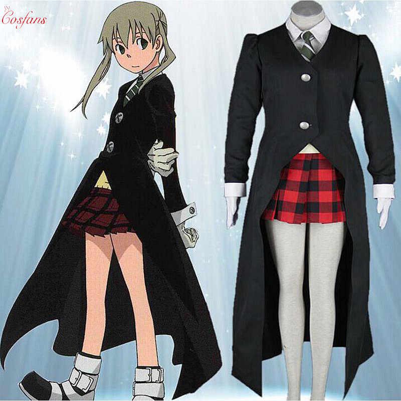 pics Maka Coat soul eater maka albarn cosplay costume top vest tie skirt coat men women new custom made soul eater maka albarn cosplay costume